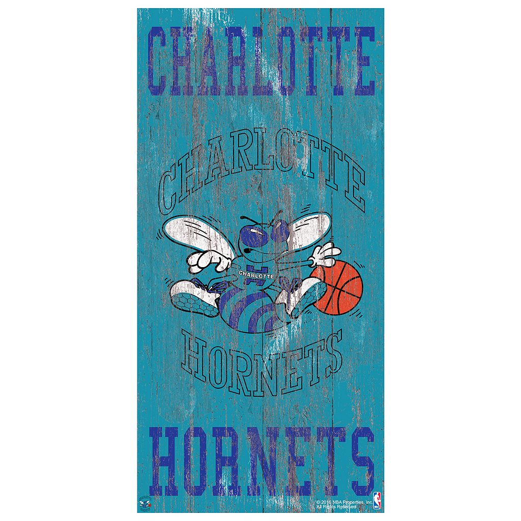 Charlotte Hornets Heritage Logo Wall Sign