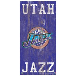 Utah Jazz Heritage Logo Wall Sign