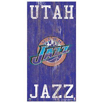 Utah Jazz Heritage Logo Wall Sign