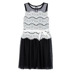 Girls 7-16 IZ Amy Byer Lace Overlay Dress