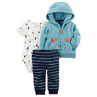 Baby Boy Carter's Microfleece 3D Monster Jacket, Bodysuit & Pants Set