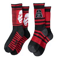 Boys 2-Pack Star Wars Vader Crew Socks