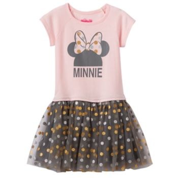 Disney's Minnie Mouse Toddler Girl Graphic Tulle Dress