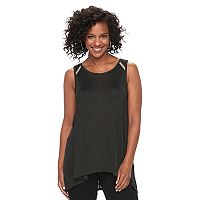 Women's Apt. 9® Marled High-Low Tank