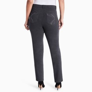Plus Size Gloria Vanderbilt Amanda High-Rise Ponte Pants