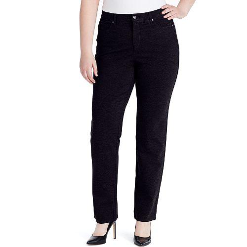Plus Size Gloria Vanderbilt Amanda High-Rise Ponte Pants