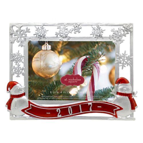 "St. Nicholas Square® Snowmen ""2017"" 4"" x 6"" Frame"