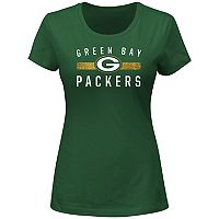Women's Majestic Green Bay Packers Franchise Fit Tee