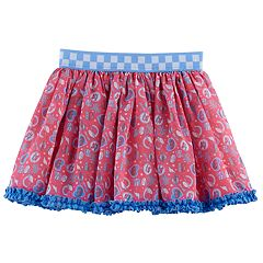 Disney / Pixar Cars 3 Lightning McQueen & Cruz Ramirez Toddler Girl Print Chiffon Skirt