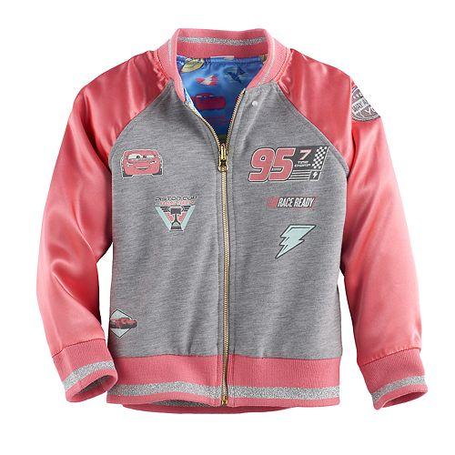 Disney / Pixar Cars 3 Lightning McQueen & Cruz Ramirez Toddler Girl Reversible Racing Jacket