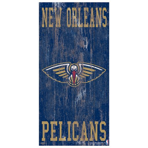 New Orleans Pelicans Heritage Logo Wall Sign