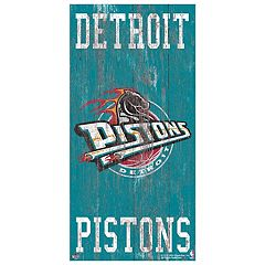 Detroit Pistons Heritage Logo Wall Sign