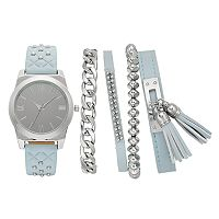 Women's Studded Watch & Bracelet Set