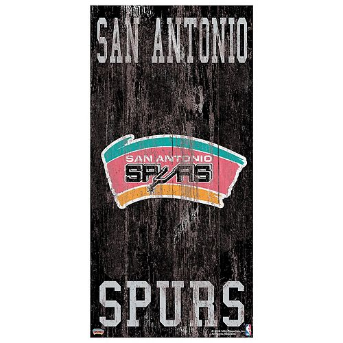 San Antonio Spurs Heritage Logo Wall Sign