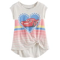 Disney / Pixar Cars 3 Lightning McQueen Toddler Girl Graphic Knot-Front Tee