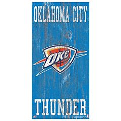 Oklahoma City Thunder Heritage Logo Wall Sign