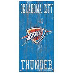 Oklahoma City Thunder Heritage Logo Wall Sign