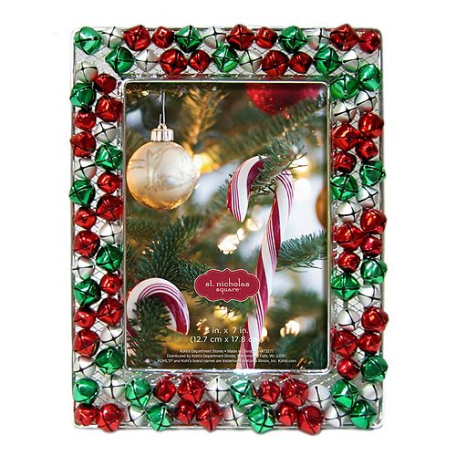 St Nicholas Square Jingle Bell 5 X 7 Christmas Frame