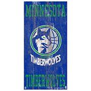 Minnesota Timberwolves Heritage Logo Wall Sign
