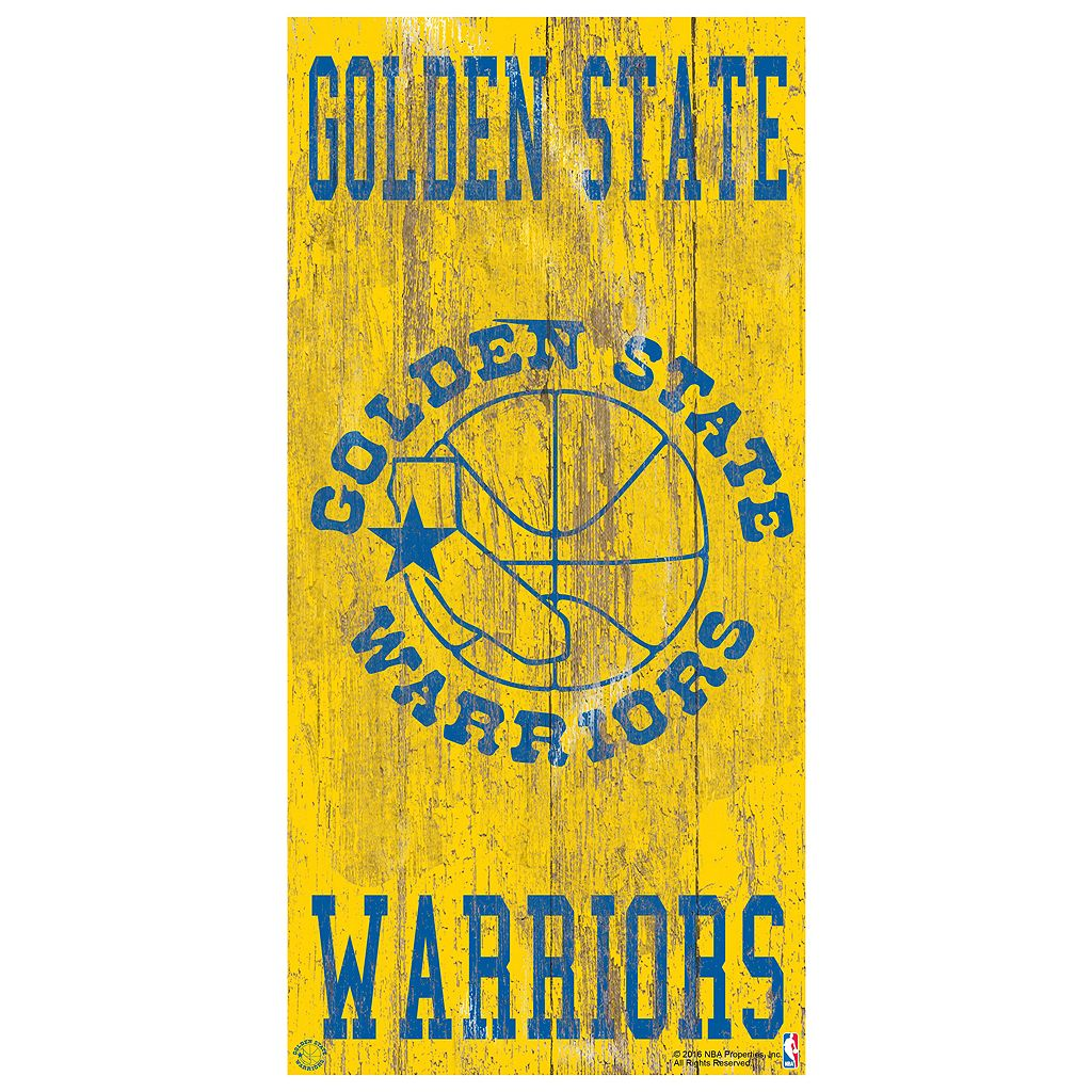 Golden State Warriors Heritage Logo Wall Sign