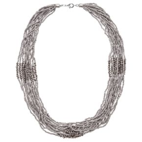 GS by gemma simone Gray Seed Bead Chunky Necklace