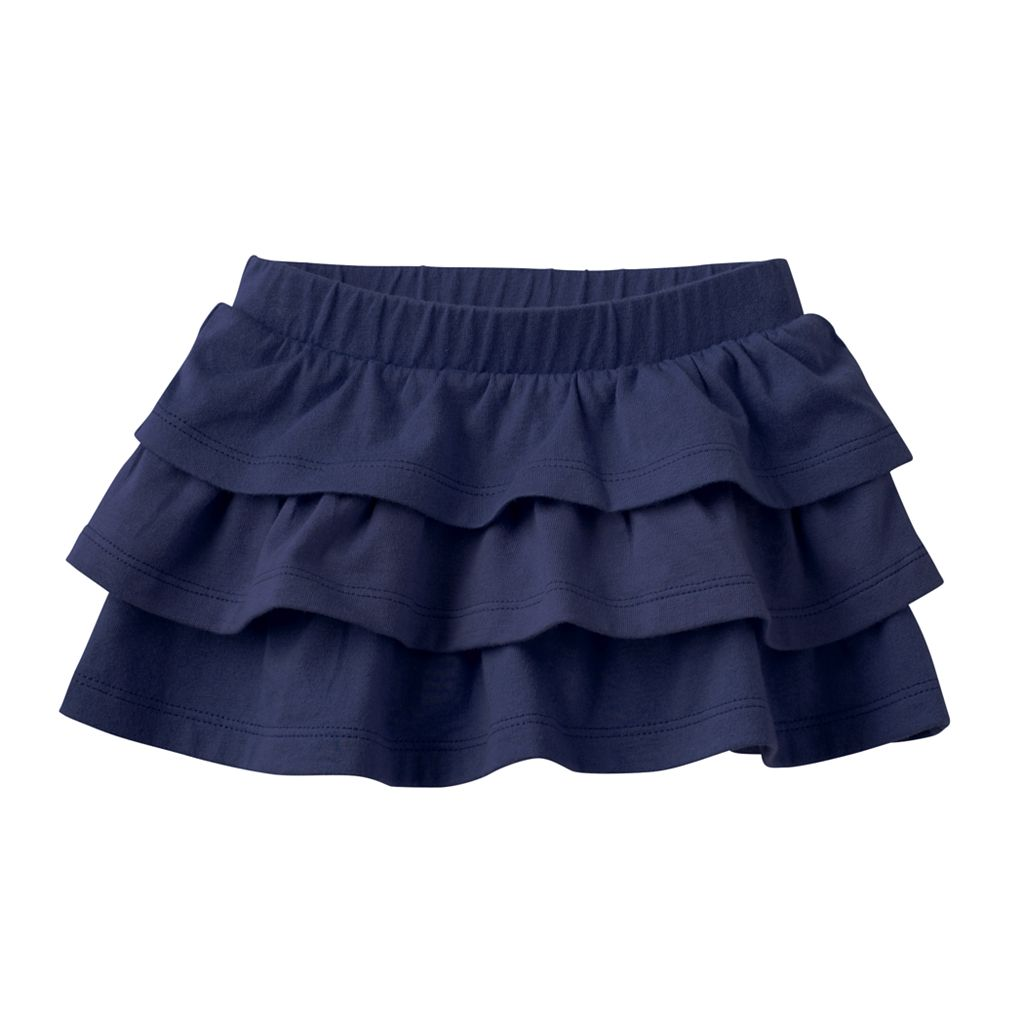 Toddler Girl Jumping Beans® Solid Tiered Skort