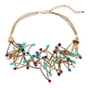 GS by gemma simone Beaded Bar Multi Strand Necklace