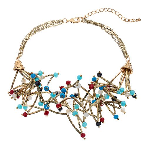 GS by gemma simone Beaded Bar Multi Strand Necklace