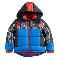 Boys 4-7 Marvel Spider-Man Quilted Heavyweight Jacket