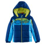 "Boys 4-7 Paw Patrol ""Night Vision"" Chase, Marshall & Rubble Puffer Heavyweight Jacket"