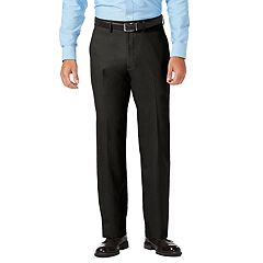 Men's J.M. Haggar Premium Classic-Fit Stretch Sharkskin Flat-Front Superflex Waist Dress Pants