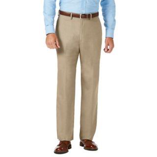 Men's J.M. Haggar Premium Classic-Fit Stretch Sharkskin Flat-Front Superflex Waist Dress Pants