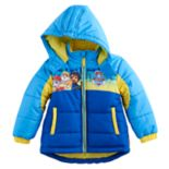 "Toddler Boy Paw Patrol ""For Your Paws Only"" Chase, Marshall & Rubble Puffer Heavyweight Jacket"