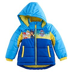 Toddler Boy Paw Patrol 'For Your Paws Only' Chase, Marshall & Rubble Puffer Heavyweight Jacket