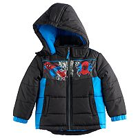 Toddler Boy Marvel Spider-Man Puffer Heavyweight Jacket