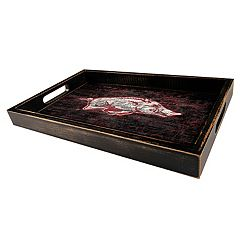 Arkansas Razorbacks Distressed Serving Tray