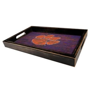 Clemson Tigers Distressed Serving Tray