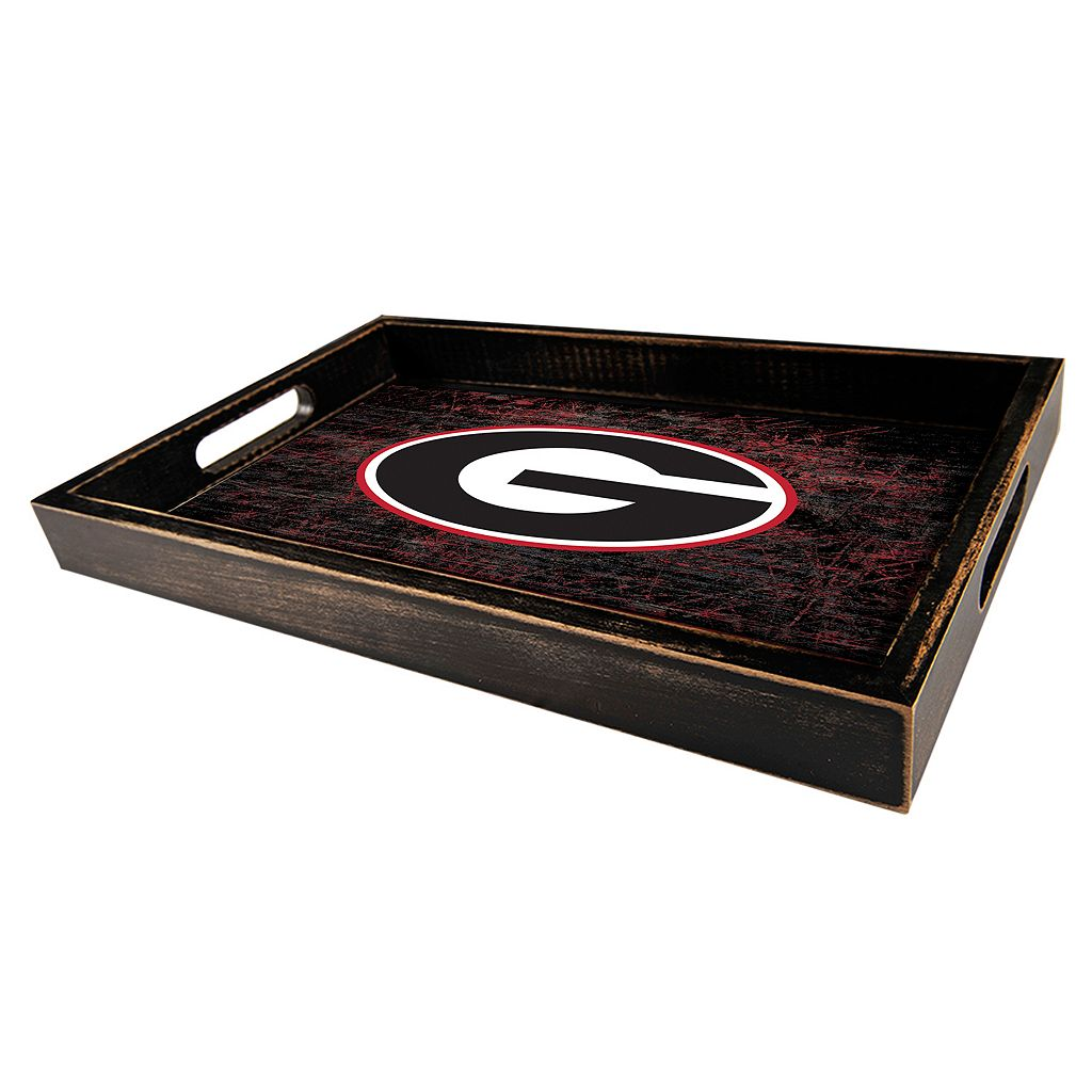 Georgia Bulldogs Distressed Serving Tray