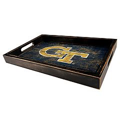 Georgia Tech Yellow Jackets Distressed Serving Tray