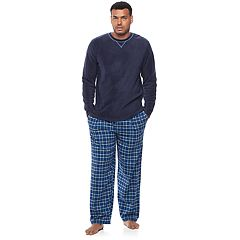 Big & Tall Chaps Microfleece Top & Plaid Flannel Sleep Pants Set
