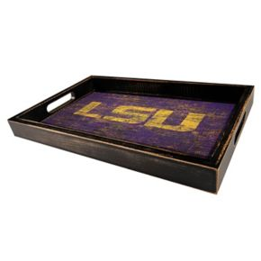 LSU Tigers Distressed Serving Tray