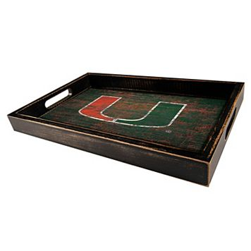 Miami Hurricanes Distressed Serving Tray