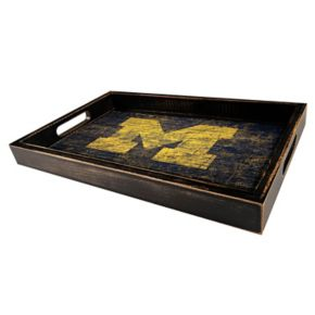 Michigan Wolverines Distressed Serving Tray