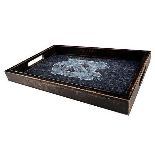 North Carolina Tar Heels Distressed Serving Tray