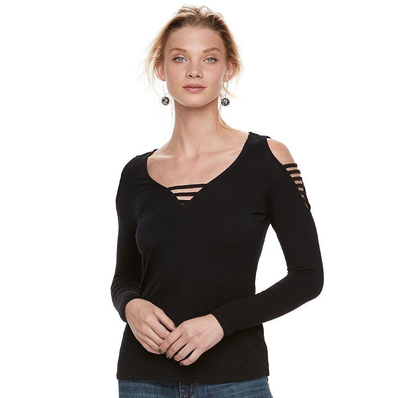 970eff305e15c Women s Rock   Republic® Strappy Cold-Shoulder Tee (Oxford)