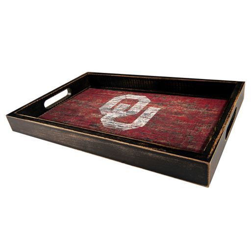 Oklahoma Sooners Distressed Serving Tray