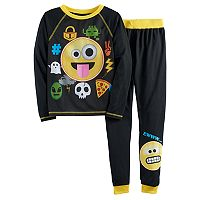 Boys 4-16 Emoji 2-Piece Pajamas