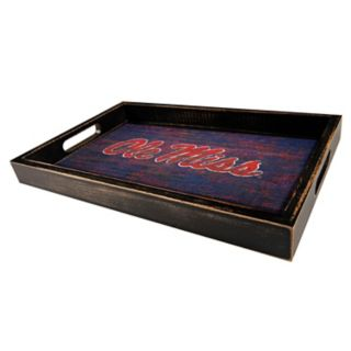 Ole Miss Rebels Distressed Serving Tray