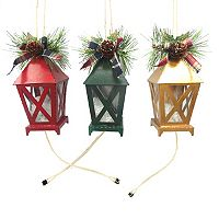 St. Nicholas Square® Light-Up Lantern Christmas Ornaments 3 pc Set