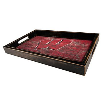 Wisconsin Badgers Distressed Serving Tray